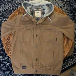 Vans Off The Wall Tan Jacket With Grey Hood